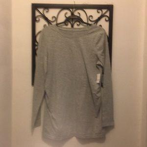 Maternity Large grey long sleeve t shirt..